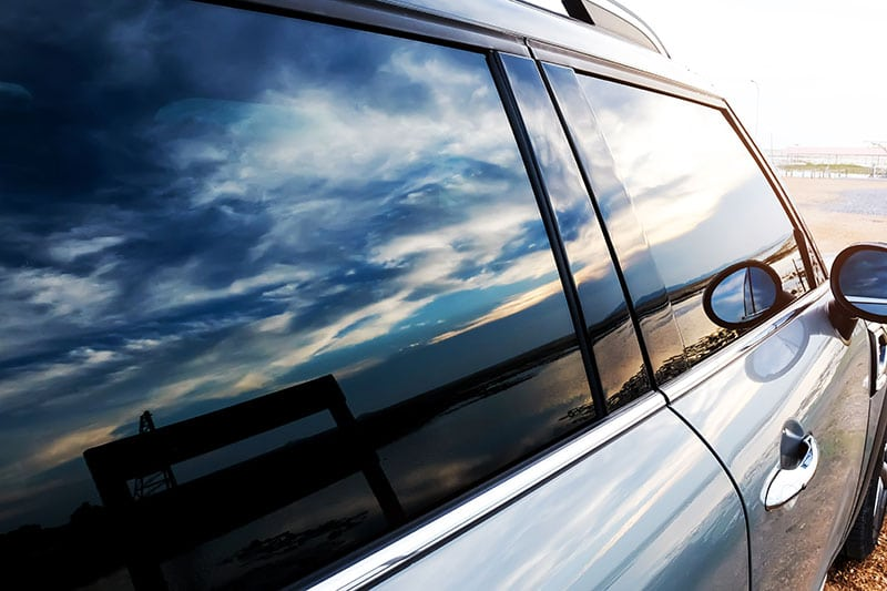 vehicle with window tint