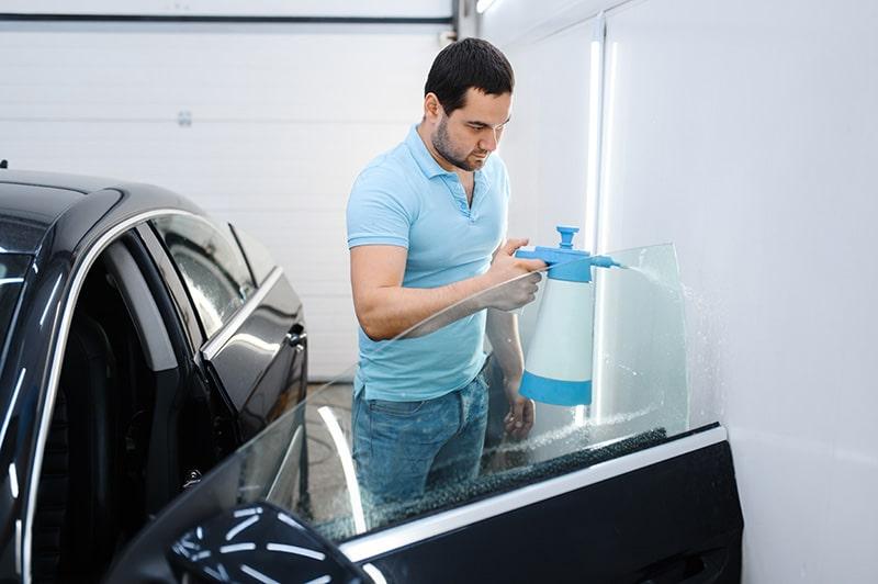 preparing for window tint installation
