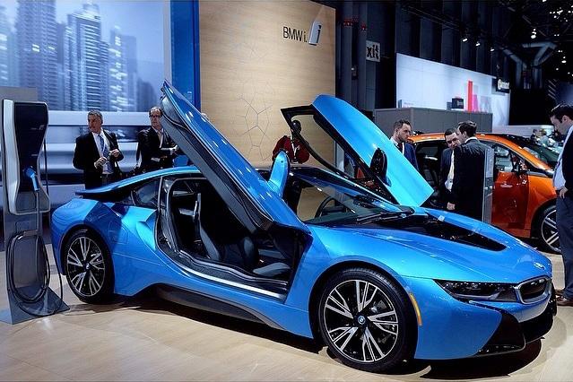 BMW i8 plug-in hybrid at the 2014 New York International Auto Show